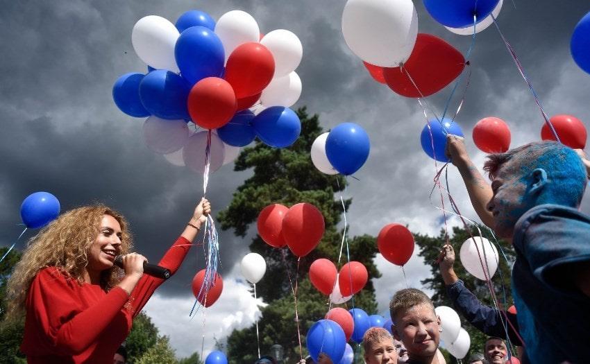 Запуск воздушных шаров на мероприятие