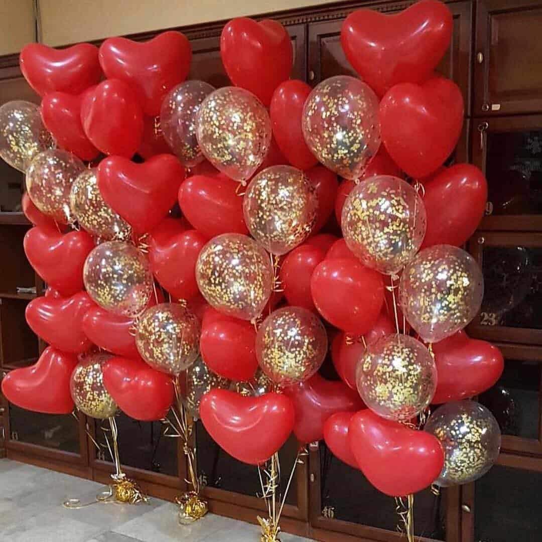 Оформление подарков из воздушных шаров