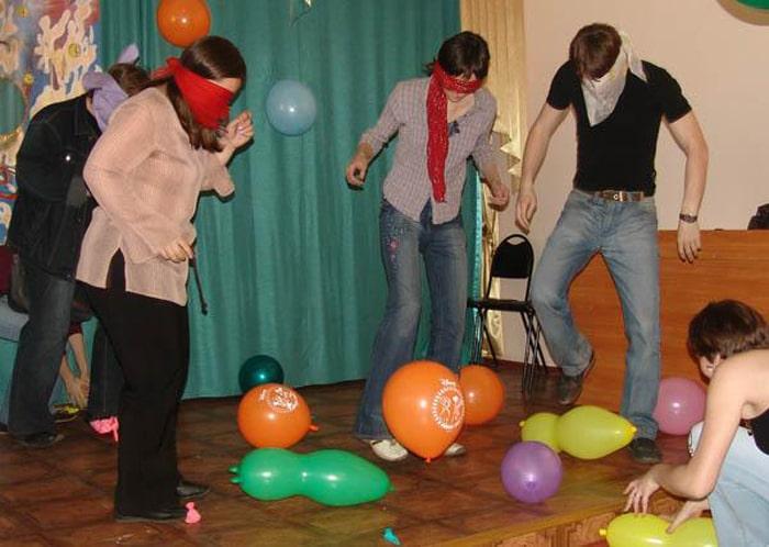 Конкурс с участием шаров
