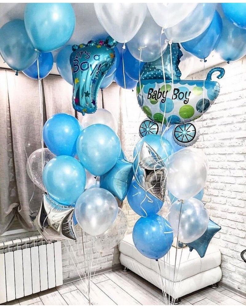 Фонтан из воздушных шаров.