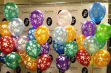 """Воздушные шары с гелием с рисунком """"Звезды"""""""