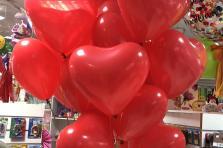 Сердце латексные с гелием 30см