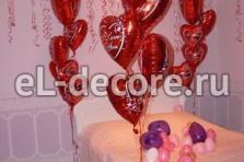 Оформление на день святого Валентина. Фонтаны.