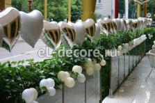 Белые и серебряные сердца