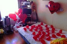 Оформление комнаты для встречи любимой девушки