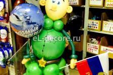 """Фигура """"Солдат"""" из воздушных шаров"""