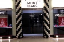 "Оформление шарами черно-белом цвете. Презентация бутика в ТЦ ""Вегас"""