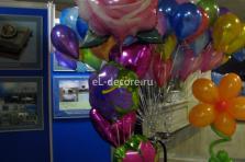 Гелиевые букеты из фольгированных цветов
