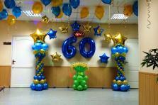 Оформление шарами на юбилей 60 лет