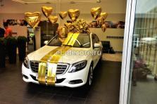 Оформление подарка Mercedes-Benz S500 для Анастасии Волочковой.