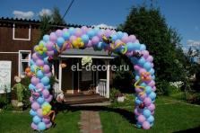 Оформление воздушными шарами дня рождения на даче