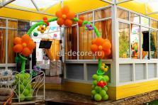 """Цветочная арка при в ходе в зал ресторан """"VERA"""""""