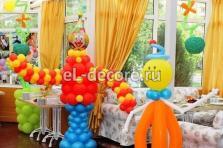 Оформление шарами веранды