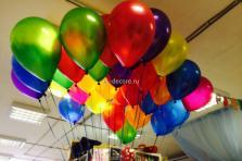 """Воздушные шары с гелием """"Металик яркие"""" 30 см."""
