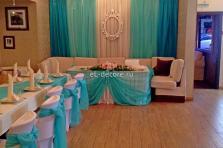 """Декор тканью свадебного зала в ресторане """"Palacio"""""""