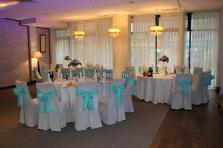 Свадебное оформление зала тканью