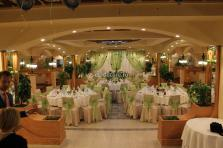 Яблочная свадьба. Оформление тканью свадеб