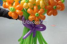 Букет ромашек из воздушных шаров. 21 шт .