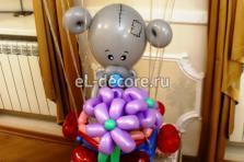 """Фигура из шаров Мишка с цветами """"Me to You"""""""