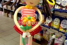 """Фигура из воздушных шаров """"Милая девочка с цветочком"""""""