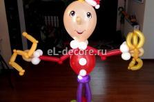 """Фигура из воздушных шаров """"Буратино и золотой ключик"""""""