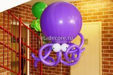 """Фигура из воздушных шаров """"Осьминог"""""""
