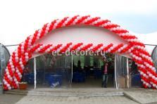 Оформление шарами входной группы в шатер