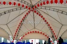 Оформление шарами шатра