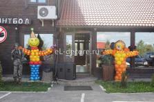 Фигуры из воздушных шаров на карпоратив
