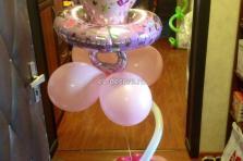 Воздушный шар соска - Композиция на выписку из роддома