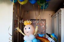 """""""Пупс на 10 воздушных шарах"""""""