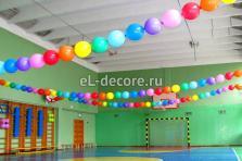 Оформление шарами спортивного зала
