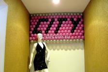 Панно из воздушных шаров при входе 1Х1.8м