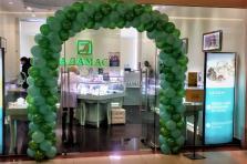 Оформление шарами ювелирного магазина.