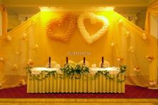 """Украшение свадьбы в ресторане """"Сим-сим"""" 2 сердца"""