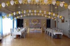Украшение свадьбы воздушными шарами - 3 гелиевые цепочки