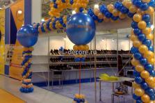 Логотип компании в виде короны мы собрали из воздушных шаров