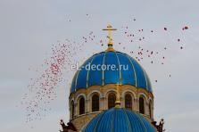 Запуск красных воздушных шаров на Венчание. 500шт.
