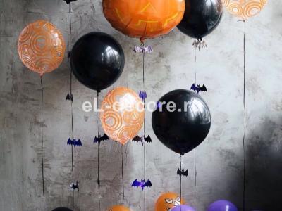 Композиции из шаров на Хэллоуин