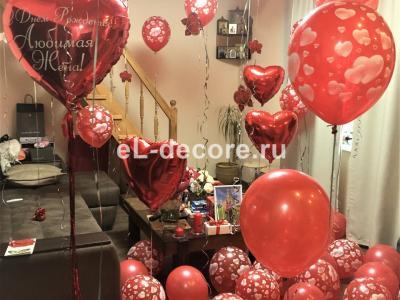Воздушные шары на день рождения жены.