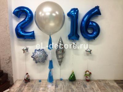 Фотозона из шаров на Новый год