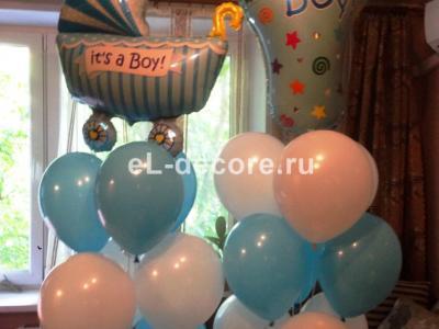 Букеты из воздушных шаров для встречи из роддома