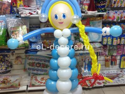 Фигура Снегурочка из воздушных шаров