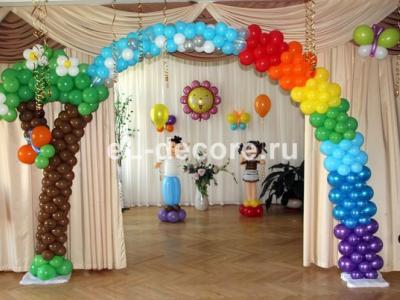 Оформление актового зала в детском садике