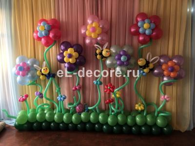 Лужайка из воздушных шаров