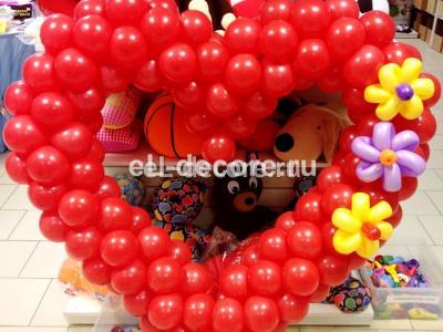 """""""Большая любовь"""" Сердце из воздушных шаров"""