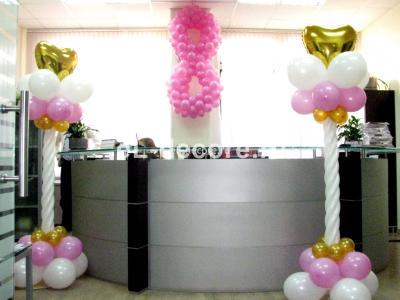 На 8 марта воздушные шары стали популярным атрибутом