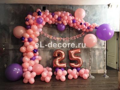 Оформление шарами на День Рождения