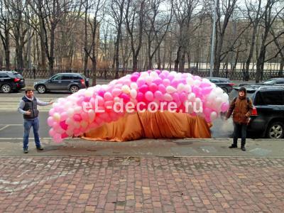 Запуск воздушных шаров с гелием 500 штук