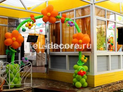 """Цветочная арка из воздушных шаров. ресторан """"VERA"""""""